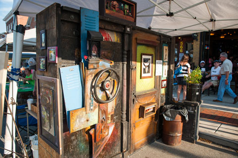 Work by regional artists on view and for sale at the Northern Appalachian Folk Festival in Downtown Indiana, PA (Jim Harris photo)